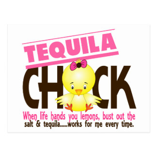 Tequila Chick Postcard