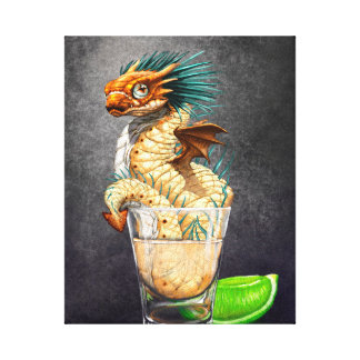 Tequila Dragon 8x10 Canvas Print