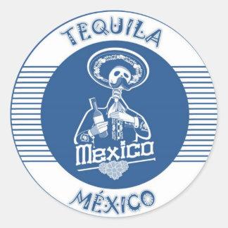 TEQUILA MÉXICO BLUE CLASSIC ROUND STICKER
