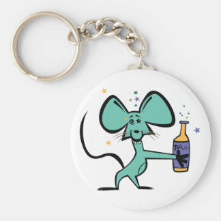 Tequila Mouse Basic Round Button Key Ring