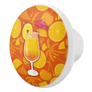 Tequila sunrise ceramic knob