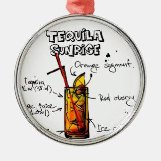 Tequila Sunrise Cocktail Recipe Silver-Colored Round Decoration