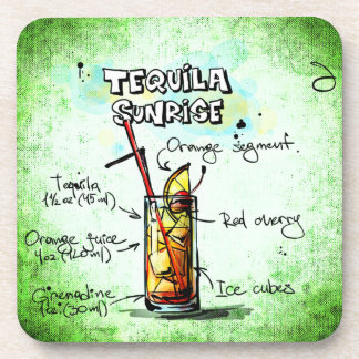 Tequila Sunrise Drink Recipe Coaster