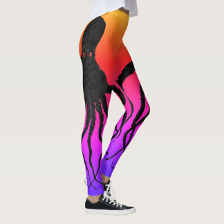Tequila Sunrise Octopus - Leggings