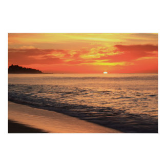 Tequila Sunrise Sky over the Sea of Cortez Poster