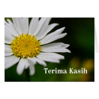 Terima kasih - Thank you in  Malay and Indonesian Card