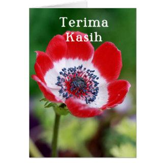 Terima kasih - Thank you in Malay and Indonesian Card