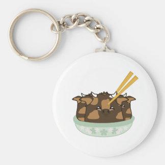 Teriyaki Moo Moo Dumplings Keychains