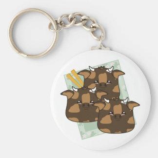 Teriyaki Moo Moo Dumplings Platter Keychains