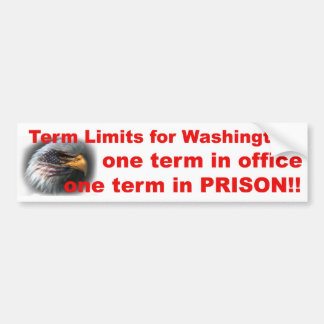 Term Limits Bumper Sticker
