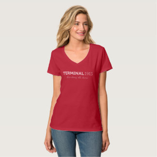 Terminal 1913 Red V-Neck Shirt