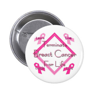 Terminate Breast Cancer Pinback Buttons