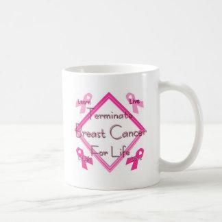 Terminate Breast Cancer Coffee Mugs