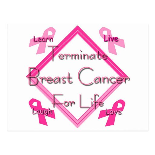 Terminate Breast Cancer For Life Post Card