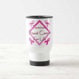 Terminate Breast Cancer For Life Travel Mug