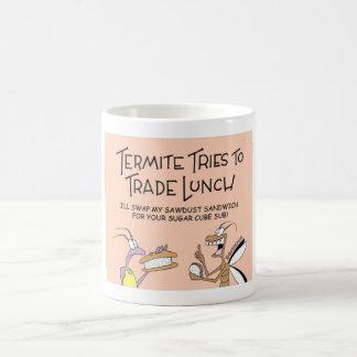 Termites trade lunch coffee mug