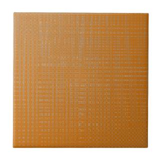 Terra Cotta Color Weave Ceramic Tile