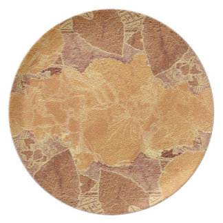 Terra-cotta colors background dinner plate