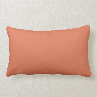 Terra Cotta Colour 1 Lumbar Pillow
