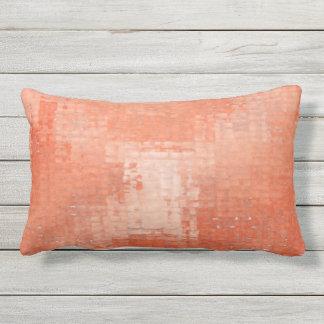 Terra Cotta Distress Grunge Outdoor Lumbar Pillow