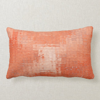 Terra Cotta Distressed Grunge Lumbar Pillow
