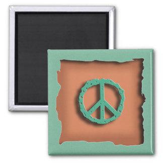 Terra Cotta Peace Magnet