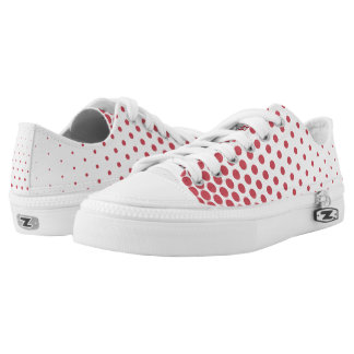 Terra Cotta Polka Dots Modern White Printed Shoes