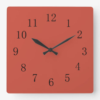 Terra Cotta Red Earth Tone Wallclocks