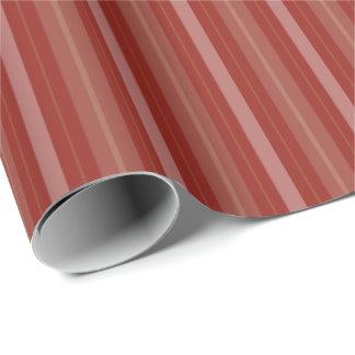 Terra Cotta Red Stripes