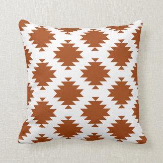 Terra Cotta Southwest Diamond Motif Cushion