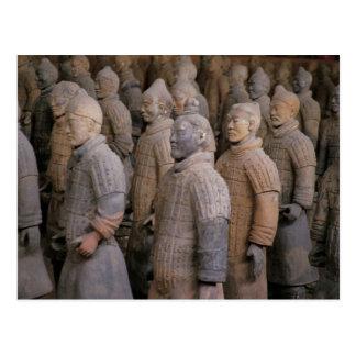 Terra Cotta warriors in Emperor Qin Shihuang's Postcard