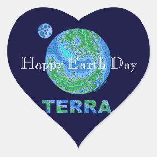 Terra Earth Art Happy Earth Day Stickers