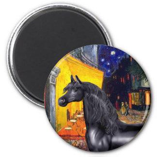 Terrace Cafe - Black Arabian Horse Magnet