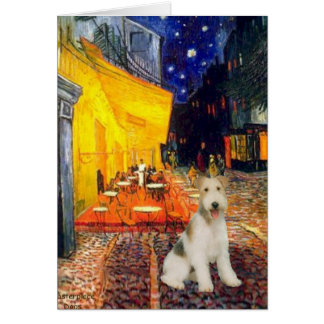 Terrace Cafe - wire Fox Terrier #1 Card