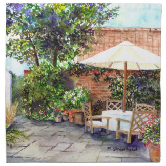 Terrace of The Manor House, York Napkin