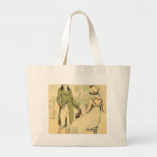 Terrace of the Tuileries 1798 Large Tote Bag