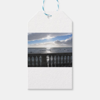 Terrace overlooking the sea gift tags