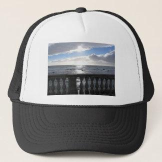 Terrace overlooking the sea trucker hat