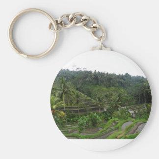 Terraced Rice Fields Key Ring