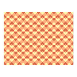 Terracotta color pattern. postcard
