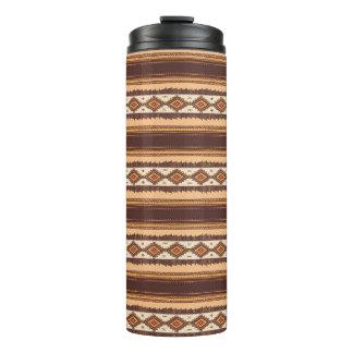 Terracotta ethnic pattern Thermal Tumbler