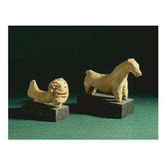 Terracotta lion and horse, Mohenjodaro 2300-1750 B Postcard