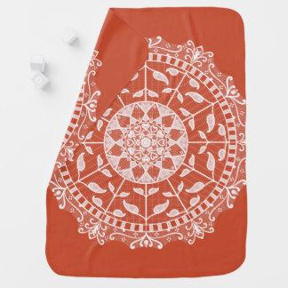 Terracotta Mandala Baby Blanket