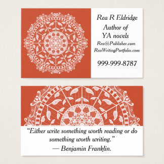 Terracotta Mandala Business Card
