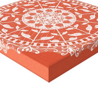 Terracotta Mandala Canvas Print
