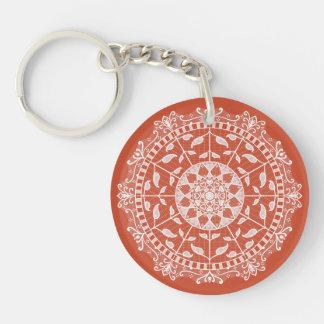 Terracotta Mandala Key Ring