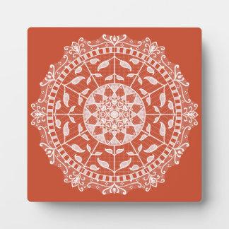 Terracotta Mandala Plaque