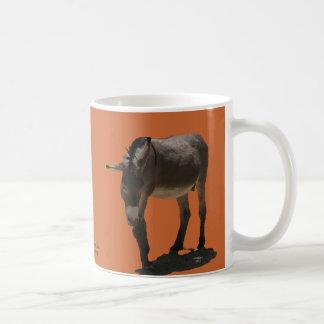 Terracotta Orange Little Burro - Animal Rescue Coffee Mug