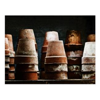 Terracotta Plant Pots Postcard