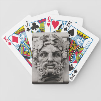 Terracotta Stone Faces on Historic Building Bicycle Playing Cards